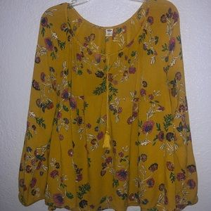 Women's floral old navy blouse